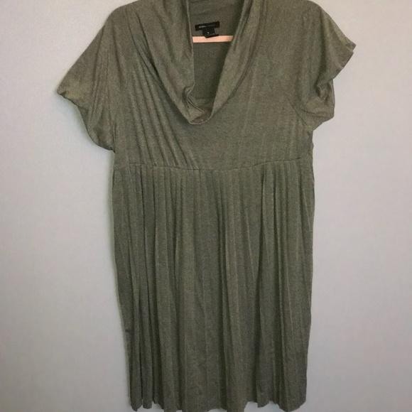 BCBG - Grey Pleated Dress Size XL